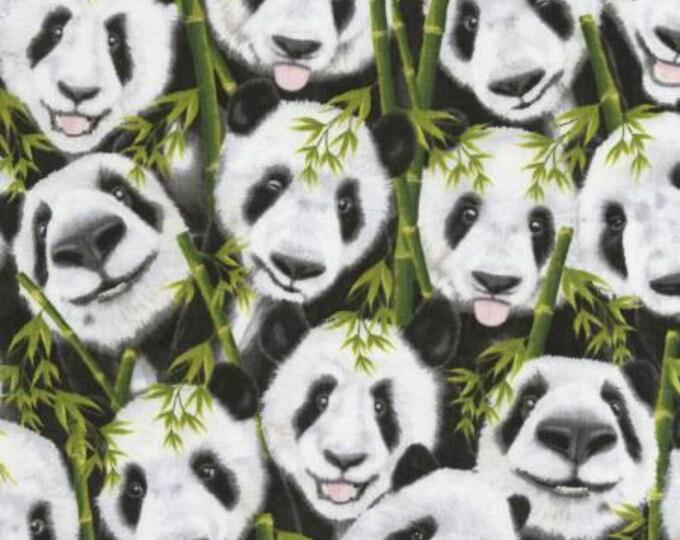 Timeless Treasures - Panda Selfies Cotton Woven Fabric Fabric