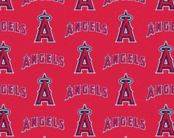 Los Angeles Angels Major League Baseball Cotton Woven Fabric 60 Inches wide