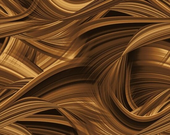 """Blank Quilting - Sedona Waves - Brown 9537-39   108"""" Wideback Cotton Woven Fabric"""