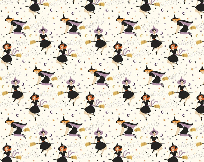 Riley Blake - Fab-Boo-Lous Witches by Dani Mogstad - Witches Cream #C8171R-CREAM Cotton Woven Fabric