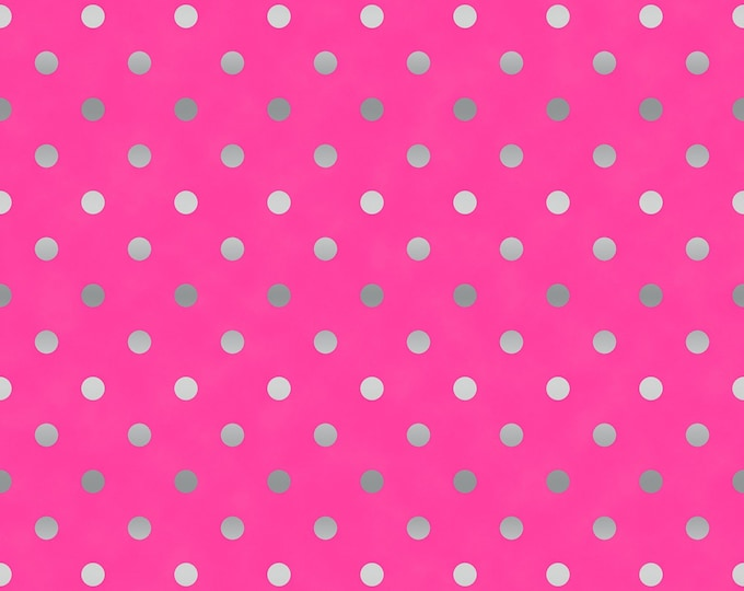 RJR Fabrics - Shiny Objects Sweet Somethings - Spot on - Raspberry - Silver Metallic3164-012 Cotton Woven Fabric