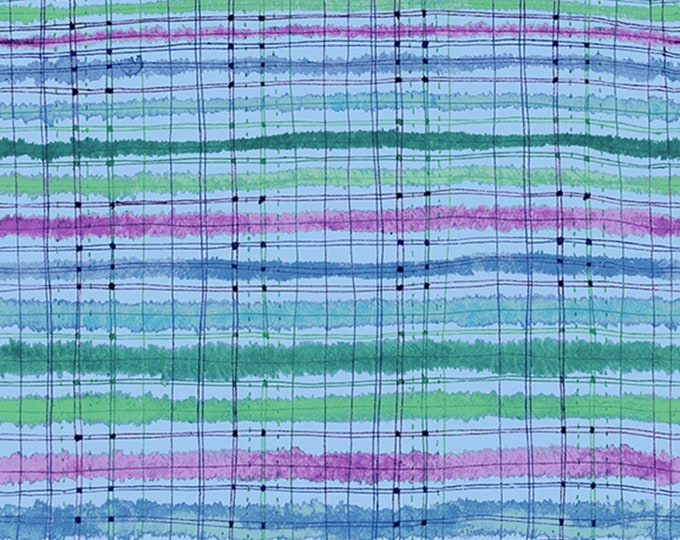RJR Fabrics - Bloom Bloom Butterfly - Picnic Blanket Sea Breeze # RJ1204J-SE3 - Cotton Woven Fabric