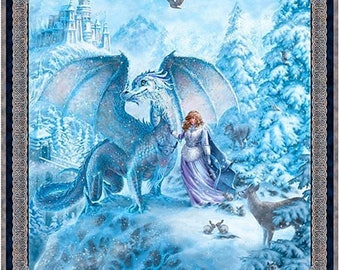 Quilting Treasures - Liz Dillonw - Magical Scene 36 Inch length cotton woven Panel Fabric