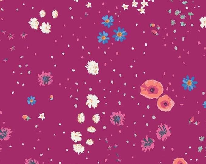 CLEARANCE - Art Gallery Fabric -  Mediterraneo by Katarina Roccella Coastal Garden Violet Cotton Woven - Priced per yard