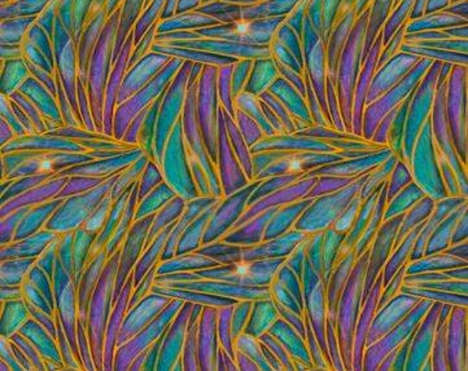 SALE !!! Liz Dillon -DREAMLAND, Stained Glass Geo Cotton Fabric Blender