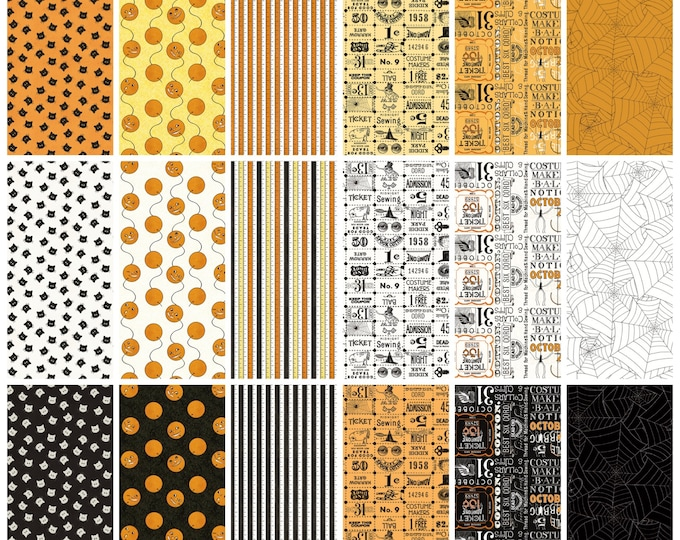 Riley Blake - Costume Makers Ball by Janet Wecker-Frisch - 42 Pieces, 5 Inch Squares #5-8360-42 Cotton Woven Fabric