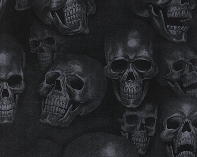 Alexander Henry Fabrics - Mist and Bones - Smoke-  Cotton Woven Fabric
