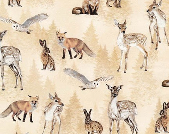 Animal Kingdom Natural Forest Anmials Cotton Woven