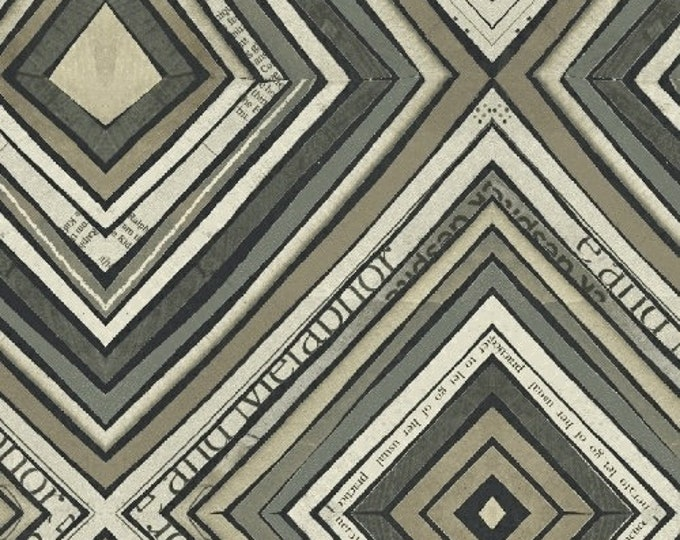 Carrie Bloomston - Wonder - Zig Zag Gray - Cotton Woven Fabric - Windham 50520-5