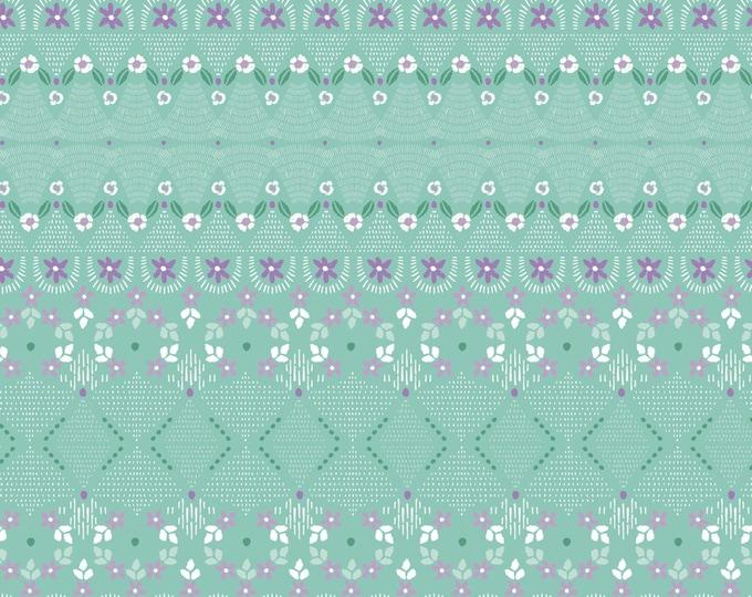 Camelot Fabrics - Bear Hug  - Aqua Little Details # 21181505-1 - Cotton Woven Fabric