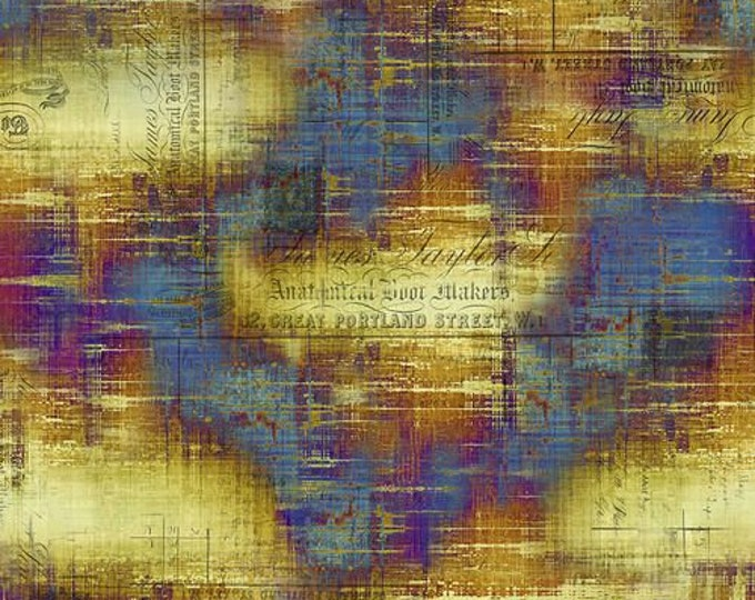 Free Spirit - Eclectic Elements - Abandoned by Tim Holtz -  Portland Street - Patina PWTH131.PATINA - Cotton Woven Fabric