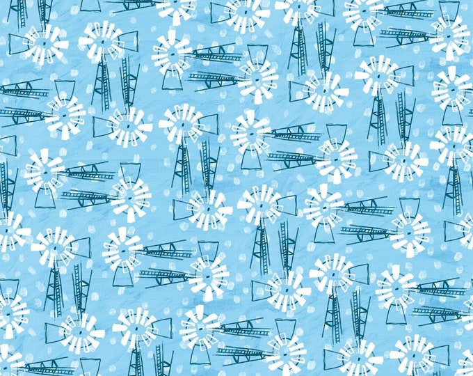 Blank Quilting - Udder Chaos by Kait Roberts - Windmills 9879-70 - Cotton Woven Fabric