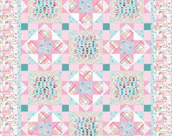 "Quilt Kit - Studio E - Sew Kind by Stitches by Charlotte  - 50"" x 62"" Quilt Kit - Includes pattern, fabric for top and binding"
