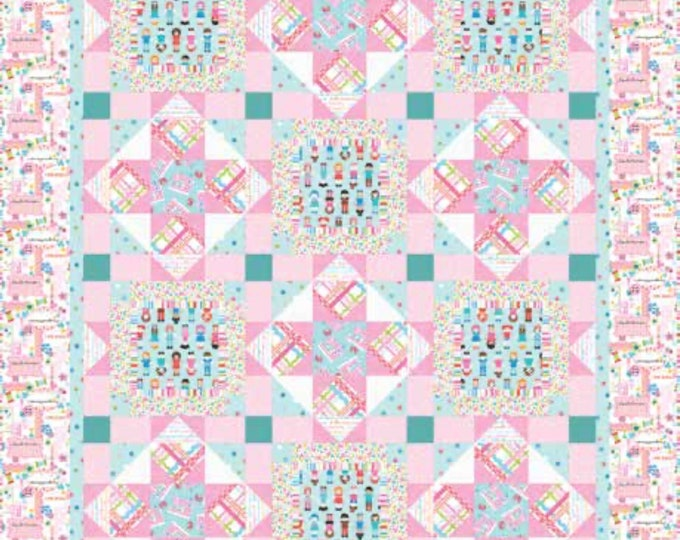 """Quilt Kit - Studio E - Sew Kind by Stitches by Charlotte  - 50"""" x 62""""Quilt Kit - Includes pattern, fabric for top and binding"""