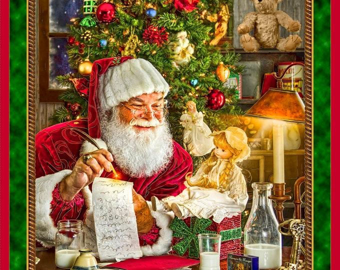 "Quilting Treasures - Santa's List - 36"" Panel #27260 X Cotton Woven Fabric"