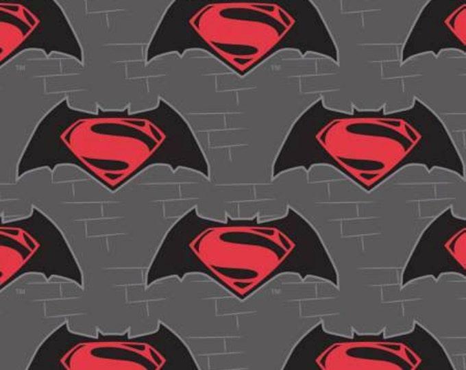 Camelot Fabrics - Dawn of Justice -  Bat Batman Vs Superman Logo Cotton Woven Fabric