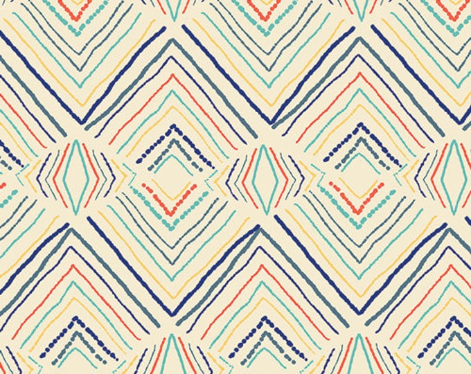 Art Gallery: Sirena - Sand Wavelength - Cotton Woven