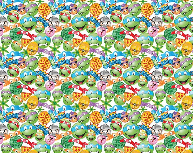 Teenage Mutant Ninja Turtles Icon Toss cotton Fabric
