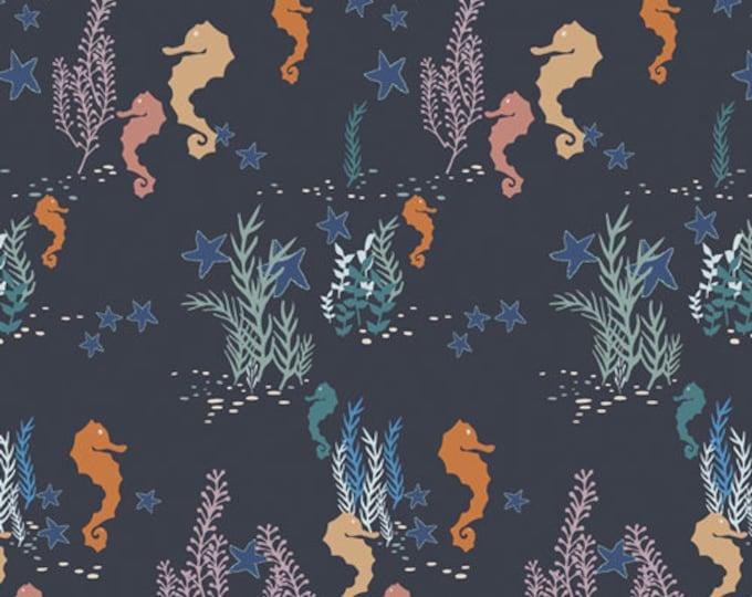 Art Gallery Fabrics - Enchanted Voyage by Maureen Cracknell - Seahorse Magic Deep ENV-61782 - Cotton Woven Fabric