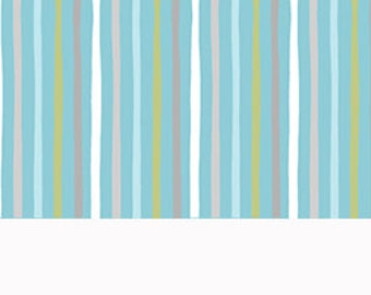 CLEARANCE -    Quilting Treasures Simple Stripes Blue coordinate cotton 1 Yard Listing