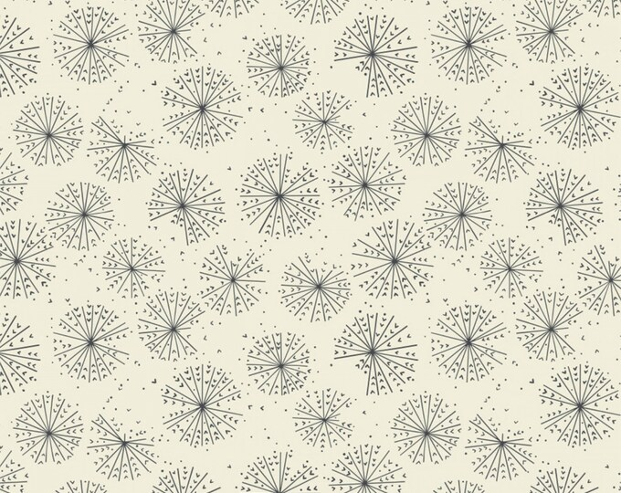 Cream Blooms Cotton Woven Fabric #27180202-2 - Petal Pushers by Elizabeth Silver for Camelot Fabrics
