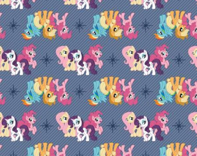 Blue My Little Pony Friends Digital Cotton Woven