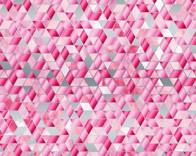 RJR Fabrics - Shiny Objects Sweet Somethings - Sugar Crystals - Strawberry Shake - Silver Metallic #3534-003 Cotton Woven Fabric