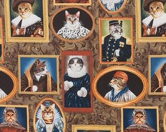 Alexander Henry Fabric -  Elizakitten Era Cat kitten  Cotton Woven
