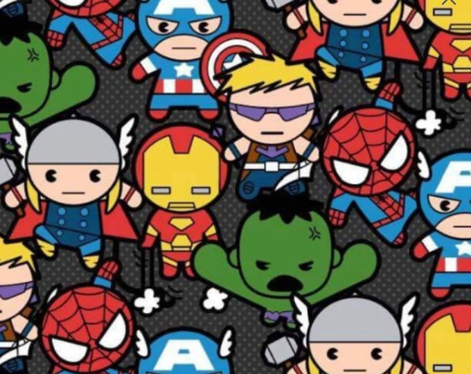 OUT OF PRINT !!! Super Hero Cotton Kawaii Hero, By Springs Creative