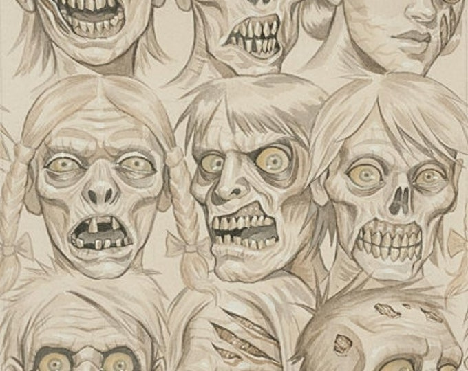 Alexander Henry Fabric - Skin and Bones on Bone Cotton Woven fabric