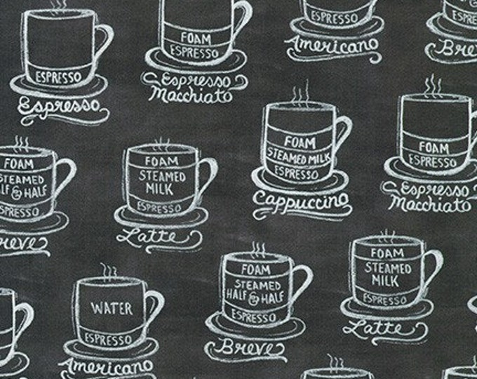 Robert Kaufman Fabrics - Metro Cafe - AZLD-19555-184 Charcoal - Cotton Woven Fabric