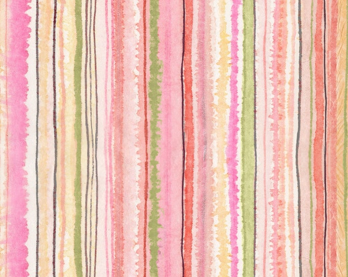 Timeless Treasures - Multi Stripe Digitally Printed #CD7191-MULTI Cotton Woven Fabric
