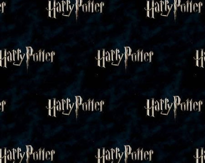 Camelot Fabrics - LIcensed Harry Potter - Dark Logo, Harry Potter Digitally Printed Cotton Woven Fabric