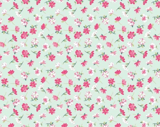 Pretty Bunny Flowers Novelty Mint C9006-MINT - The RBD Designers for Riley Blake Fabrics