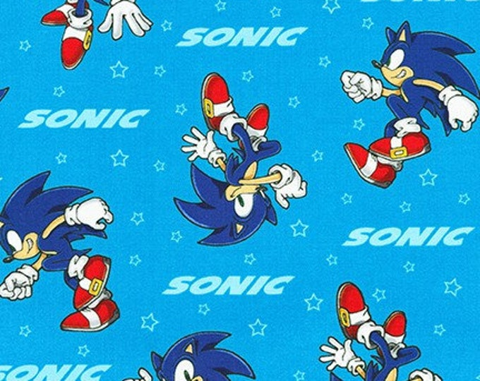 Robert Kaufman Fabrics - Licensed Sonic the Hedgehog - AXX-73950-4 BLUE - Cotton Woven Fabric