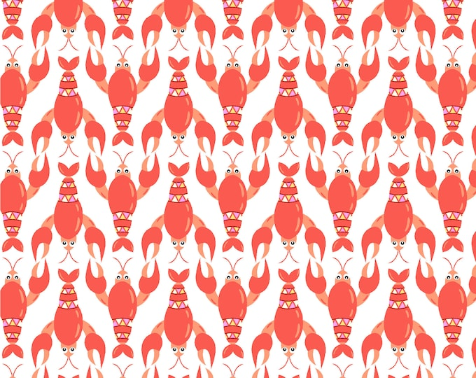 Sea Buddies - Lobster - Cotton Woven Fabric - Blank Quilting 9315-01
