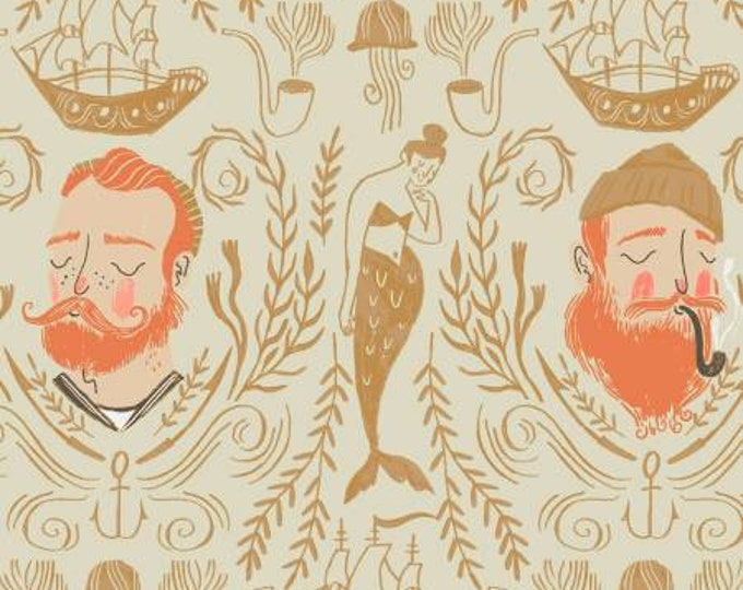 Dear Stella - Aweigh North - Sand Sailor Toile - Rae Ritchie - Cotton Woven Fabric