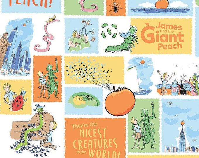 James & the Giant Peach - Main Design - White - Cotton Woven Fabric - Riley Blake Designs