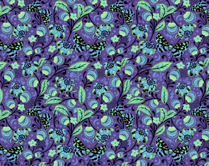LIMITED AVAILABILITY ! De La Luna Venus Haunted Cotton Woven by Tula Pink for Free Spirit Fabrics