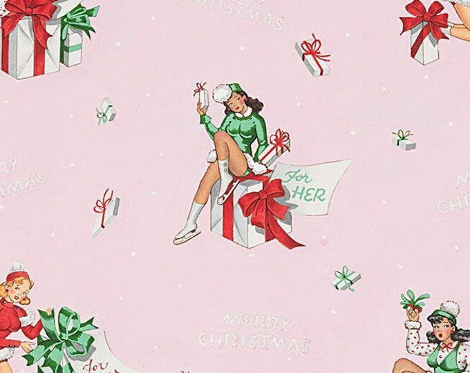 Alexander Henry Fabrics - Christmas Time - Pink For You #8837a - Cotton Woven Fabric