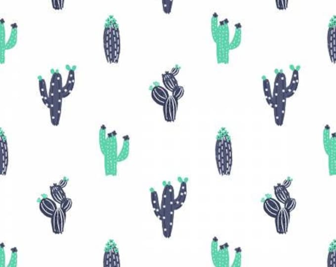 Dear Stella - No Probllama - Cacti - White - Cotton Woven Fabric - Dear Stella-1049