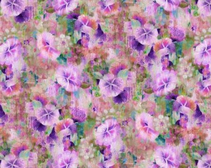 Wilmington Fabrics - Danhui Nai - Bohemian Dreams - Boho Flowers - Purple    89194-674 Cotton Woven Fabric