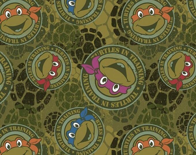 Disney Knit Teenage Mutant Ninja Turtle Green 1 yard listing