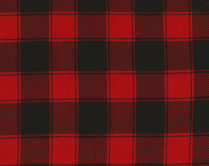 Buffalo Check Red Cotton Woven Fabric
