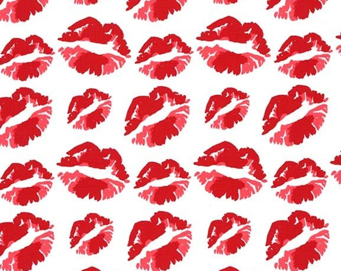 Michael Miller - Glam Girls - Lipstick Pout - Cotton Woven Fabric