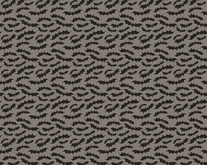 Riley Blake - Fab-Boo-Lous Witches by Dani Mogstad - Bats Gray #C8174R-GRAY Cotton Woven Fabric