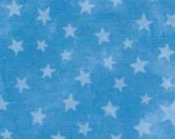 CLEARANCE -      ! MODA Marble Blue Stars Cotton Woven 1 Yard- Price is per yard !