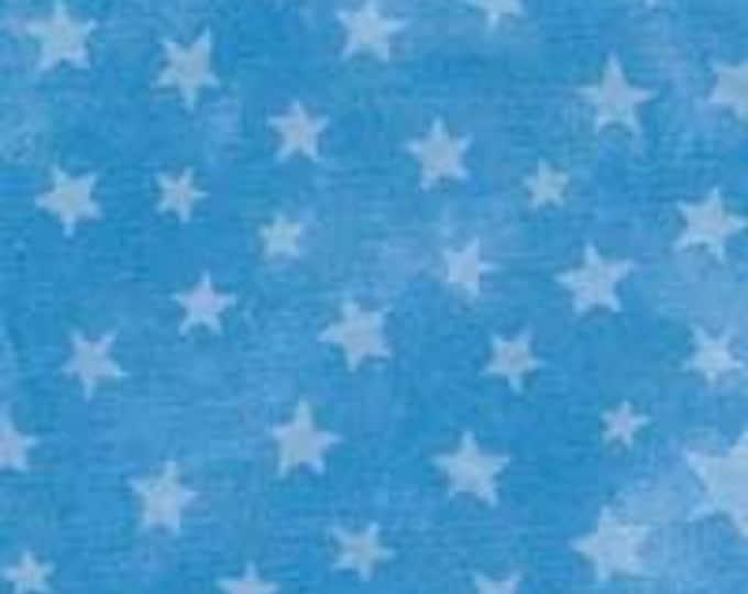 CLEARANCE -      ! MODA Marble Blue Stars Cotton Woven 1 Yard- Price is per yard !