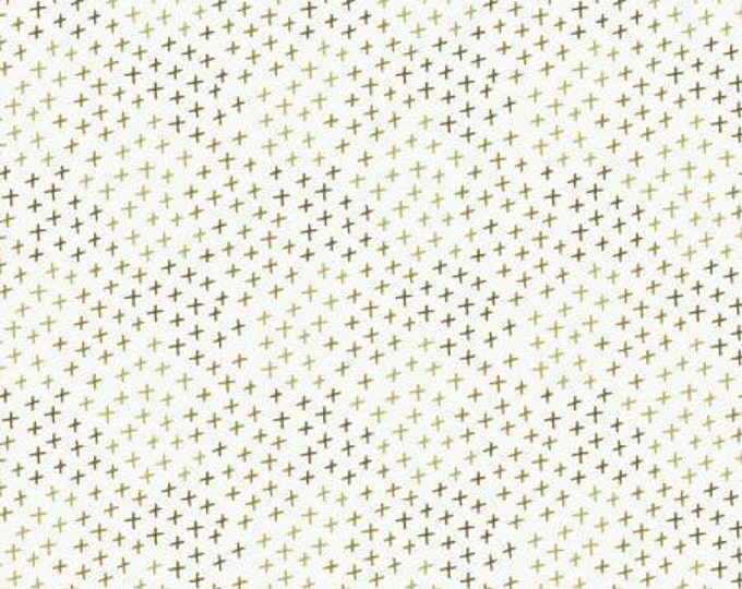 Hello My Deer, Olive Dust Crosses, Camelot Fabrics