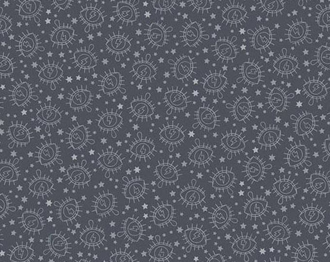 Andover Fabrics - Wildside by Libs Elliot - Electric Eye Gunmetal Cotton Woven